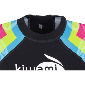 KiWAMi Aqua Rush Combinaison à manches courtes Femme, black/rainbow